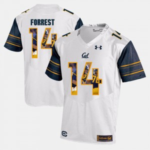 Men University of California #14 Chase Forrest White Player Pictorial Jersey 617646-182