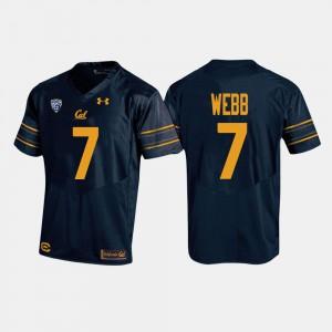 Men's California Bears #7 Davis Webb Navy College Football Jersey 733604-817