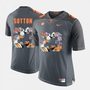 Men Tennessee Vols #23 Cameron Sutton Grey Pictorial Fashion Jersey 631853-300