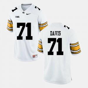 For Men's Iowa Hawkeyes #71 Carl Davis White Alumni Football Game Jersey 175753-423
