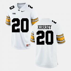 Men's Hawkeyes #20 Christian Kirksey White Alumni Football Game Jersey 316034-272