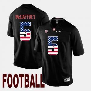 Men Stanford #5 Christian McCaffrey Black US Flag Fashion Jersey 873048-528