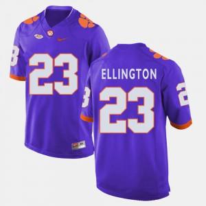 Men Clemson National Championship #23 Andre Ellington Purple College Football Jersey 568606-417