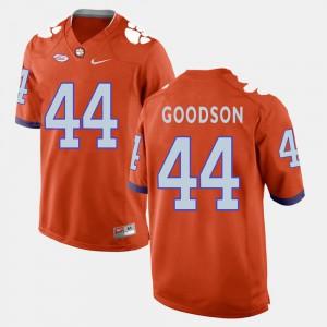 For Men's Clemson #44 B.J. Goodson Orange College Football Jersey 128825-358