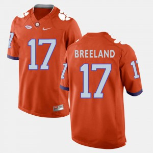 Men's Clemson Tigers #17 Bashaud Breeland Orange College Football Jersey 336409-514