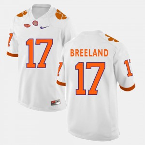 Men Clemson #17 Bashaud Breeland White College Football Jersey 382861-565