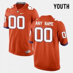 Kids Clemson National Championship #00 Orange College Limited Football Custom Jersey 183336-321