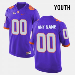 Youth Clemson University #00 Purple College Limited Football Customized Jerseys 223719-763