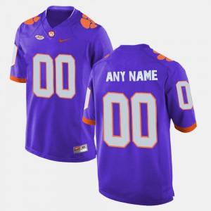 Men CFP Champs #00 Purple College Limited Football Custom Jersey 798843-748