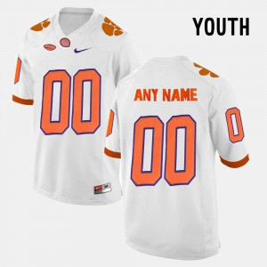 For Kids Clemson National Championship #00 White College Limited Football Custom Jersey 372587-610