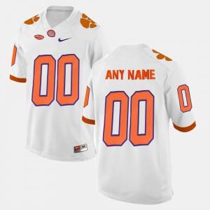 Mens Clemson University #00 White College Limited Football Custom Jerseys 548150-391