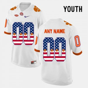 For Kids CFP Champs #00 White US Flag Fashion Customized Jersey 371553-231