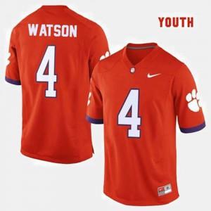For Kids Clemson National Championship #4 Deshaun Watson Orange College Football Jersey 606464-538
