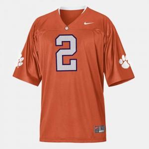 Men's Clemson Tigers #2 Sammy Watkins Orange College Football Jersey 200505-328