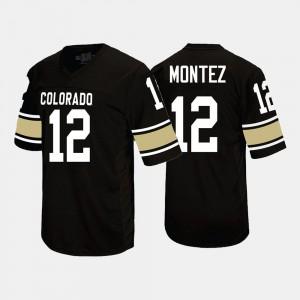 Men Colorado Buffaloes #12 Steven Montez Black College Football Jersey 886203-611