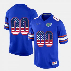 For Men's Florida #00 Royal Blue US Flag Fashion Custom Jerseys 645983-721