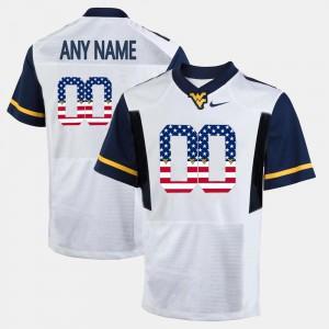 Men Mountaineers #00 White US Flag Fashion Customized Jerseys 271720-839