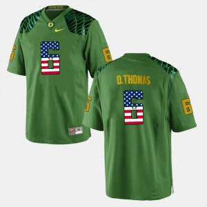 Men UO #6 De'Anthony Thomas Green US Flag Fashion Jersey 564980-685