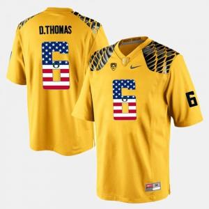 For Men Oregon #6 De'Anthony Thomas Yellow US Flag Fashion Jersey 315124-193