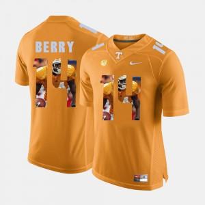 Men's Vols #14 Eric Berry Orange Pictorial Fashion Jersey 654080-329