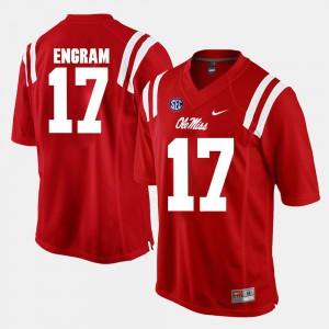 Mens Ole Miss Rebels #17 Evan Engram Red Alumni Football Game Jersey 738676-656