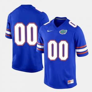 Men Florida Gator #00 Royal Blue College Limited Football Customized Jersey 693104-354