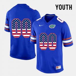 Youth Florida #00 Blue US Flag Fashion Customized Jerseys 191677-739