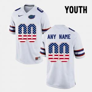 Kids Florida #00 White US Flag Fashion Custom Jerseys 799811-904