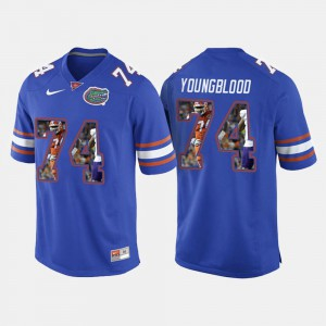 For Men's UF #74 Jack Youngblood Royal Blue College Football Jersey 123592-744