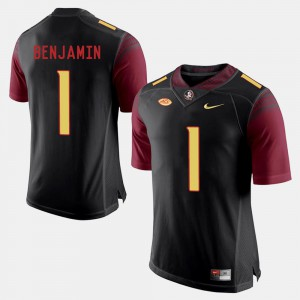 For Men Florida State Seminoles #1 BKelvin Benjamin Black College Football Jersey 920948-580