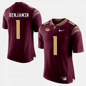 For Men's FSU Seminoles #1 BKelvin Benjamin Garnet College Football Jersey 844888-975