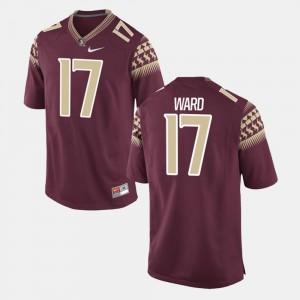 Men's Florida ST #17 Charlie Ward Garnet Alumni Football Game Jersey 814848-721