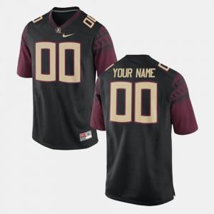 Men's Seminole #00 Black College Football Custom Jerseys 491544-942