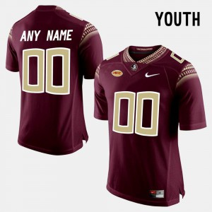 For Kids Seminole #00 Red College Limited Football Customized Jersey 174943-300