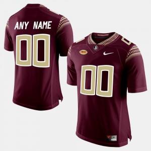 Mens Seminoles #00 Red College Limited Football Custom Jerseys 617948-907