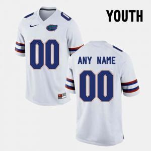 Youth FSU Seminoles #00 White College Limited Football Customized Jerseys 250018-119