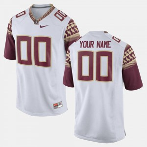 For Men's Florida State Seminoles #00 White College Limited Football Customized Jerseys 944875-758
