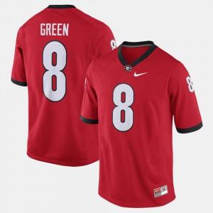 Men University of Georgia #8 A.J. Green Red Alumni Football Game Jersey 249433-209