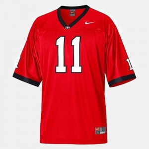 For Kids UGA Bulldogs #11 Aaron Murray Red College Football Jersey 777144-422