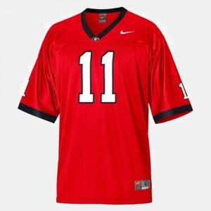 Men UGA #11 Aaron Murray Red College Football Jersey 491788-278
