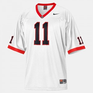 For Men's UGA #11 Aaron Murray White College Football Jersey 757434-210