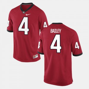 Men UGA #4 Champ Bailey Red Alumni Football Game Jersey 535507-324
