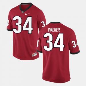 Mens University of Georgia #34 Herschel Walker Red Alumni Football Game Jersey 869986-962