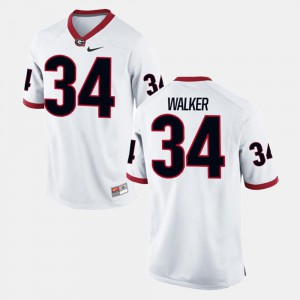 For Men Georgia #34 Herschel Walker White Alumni Football Game Jersey 161416-810