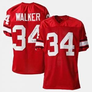 For Men's UGA Bulldogs #34 Herschel Walker Red College Football Jersey 875990-695