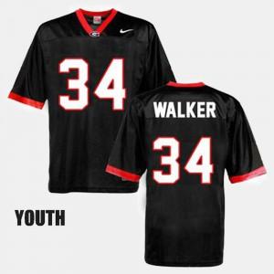 Youth GA Bulldogs #34 Herschel Walker Black College Football Jersey 998150-482