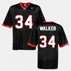Men's Georgia #34 Herschel Walker Black College Football Jersey 603035-557
