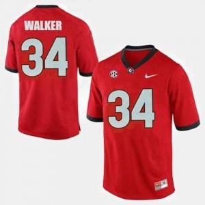 Men Georgia Bulldogs #34 Herschel Walker Red College Football Jersey 875450-407