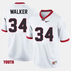 For Kids Georgia Bulldogs #34 Herschel Walker White College Football Jersey 113055-122