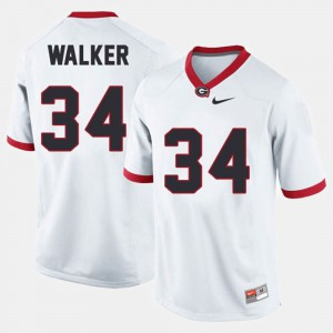 Men UGA #34 Herschel Walker White College Football Jersey 718272-305